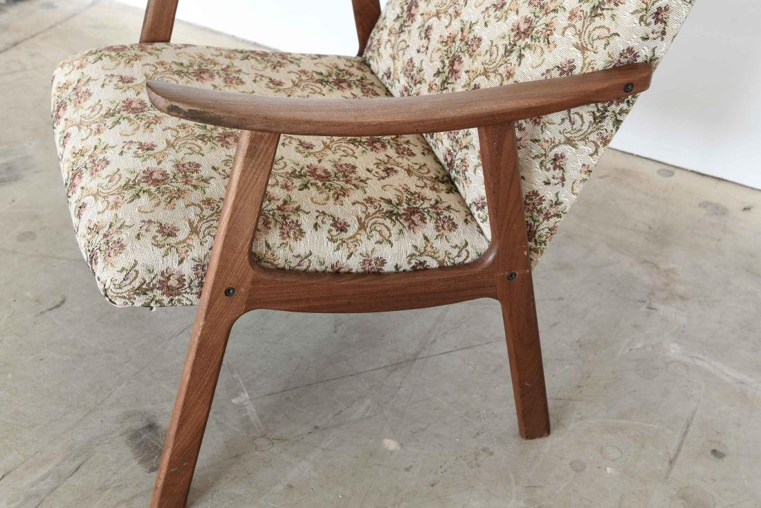 DANISH MID-CENTURY HIGH BACK EASY CHAIR - 5