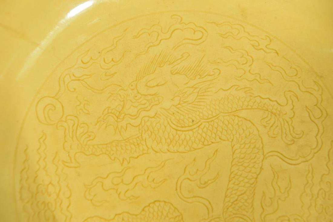 CHINESE IMPERIAL YELLOW DISH - 2
