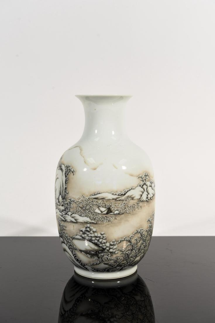 CHINESE SNOW SCENE REPUBLIC VASE
