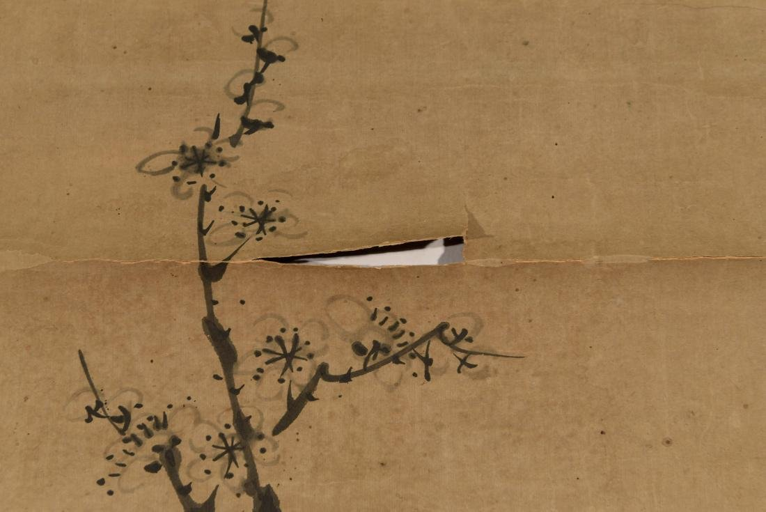CHINESE SCROLL WITH BONZAI - 3