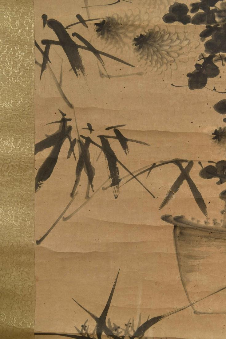 CHINESE SCROLL WITH BONZAI - 6