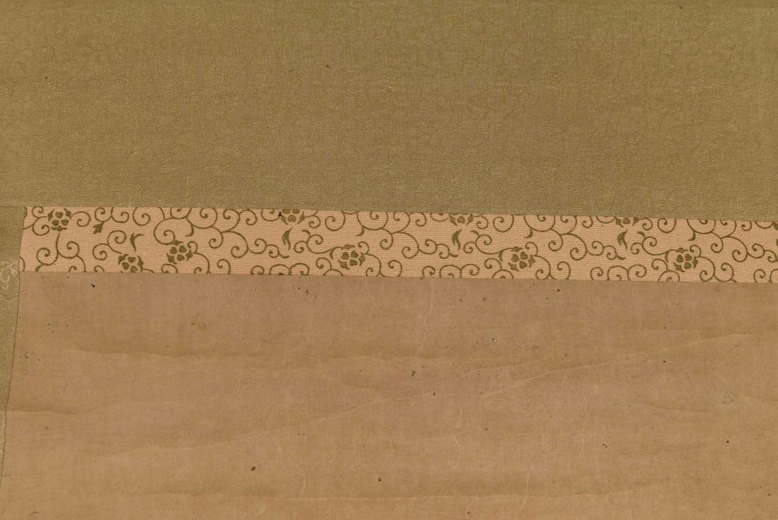 CHINESE SCROLL WITH BONZAI - 7