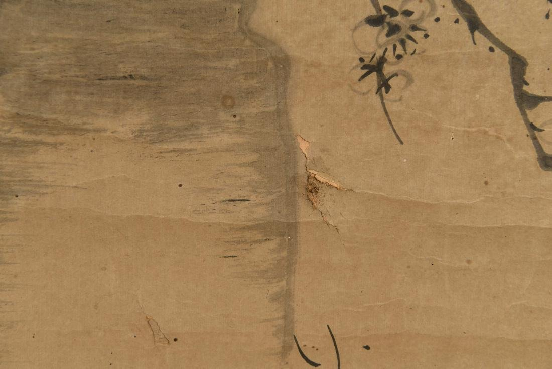 CHINESE SCROLL WITH BONZAI - 8