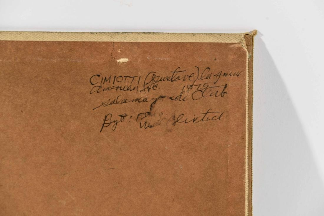 GUSTAV CIMOTTI (AMERICAN 1875-1969) O/B - 9