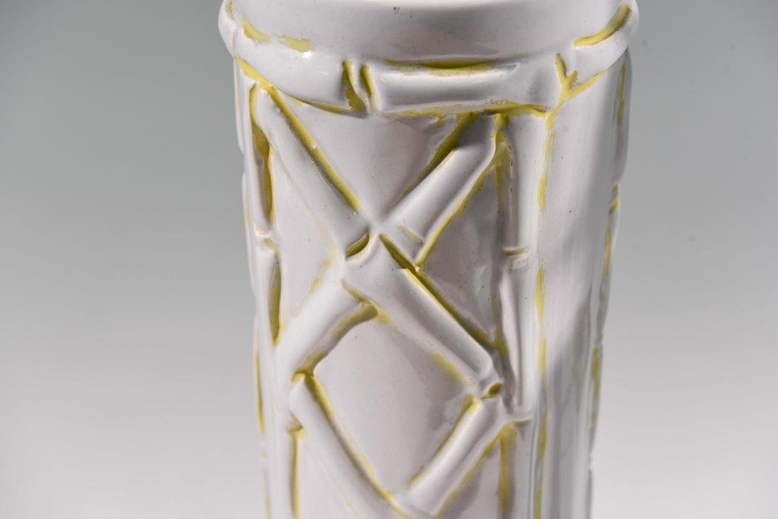 MID-CENTURY CERAMIC LAMPS WITH BAMBOO MOTIF - 5