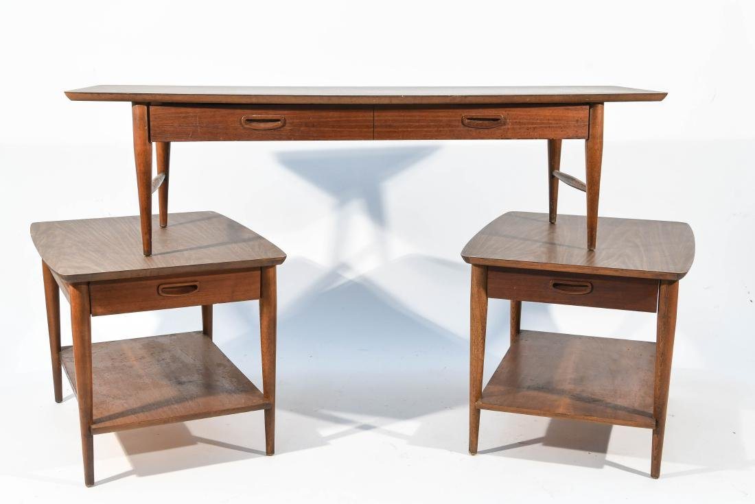(3) MID-CENTURY LANE COFFEE AND END TABLES