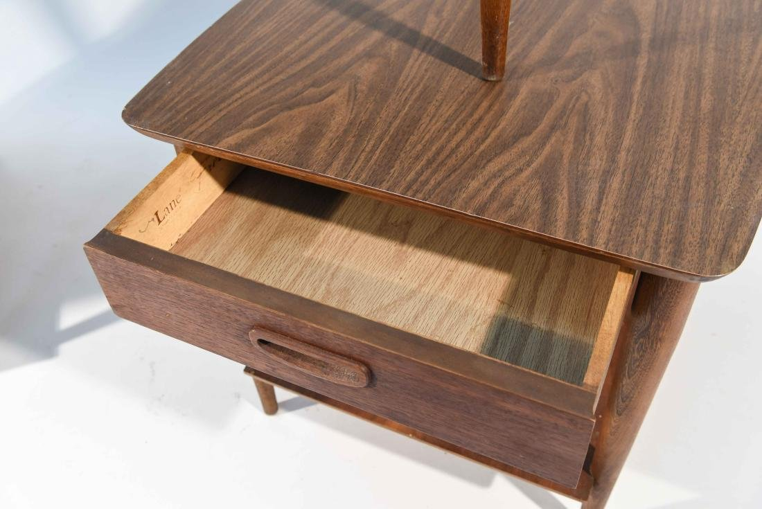 (3) MID-CENTURY LANE COFFEE AND END TABLES - 6