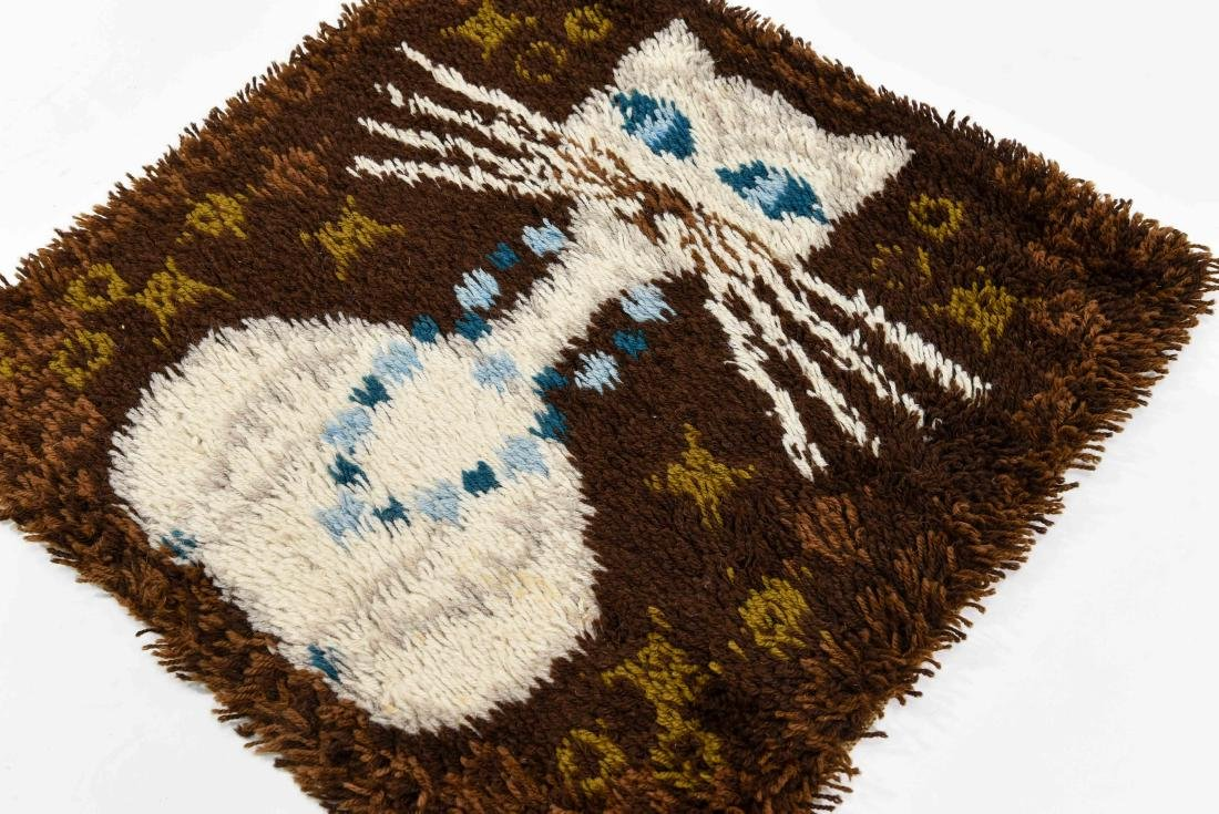 DANISH RYA RUG W/ CAT - 5