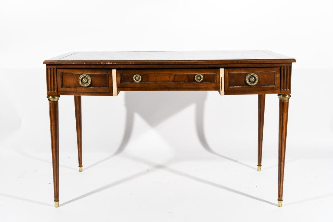BAKER FURNITURE CO. FRENCH STYLE LEATHER TOP DESK