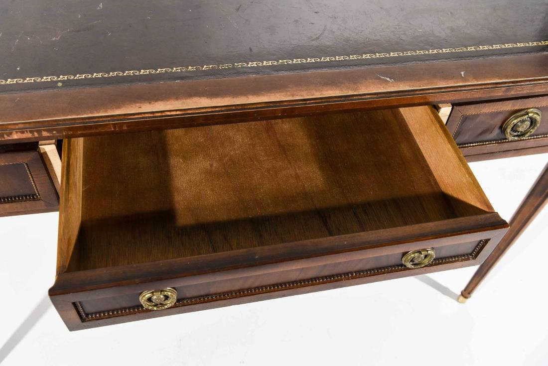 BAKER FURNITURE CO. FRENCH STYLE LEATHER TOP DESK - 5