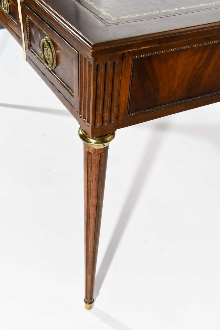 BAKER FURNITURE CO. FRENCH STYLE LEATHER TOP DESK - 7