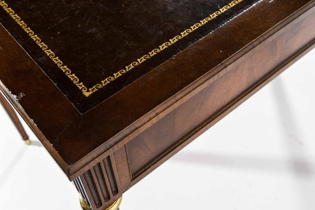 BAKER FURNITURE CO. FRENCH STYLE LEATHER TOP DESK - 8