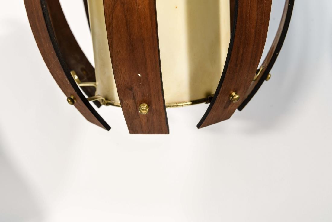 PAIR OF MID-CENTURY BENT WOOD PENDANT LAMPS - 5