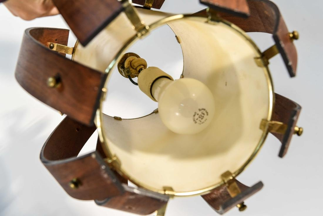 PAIR OF MID-CENTURY BENT WOOD PENDANT LAMPS - 7