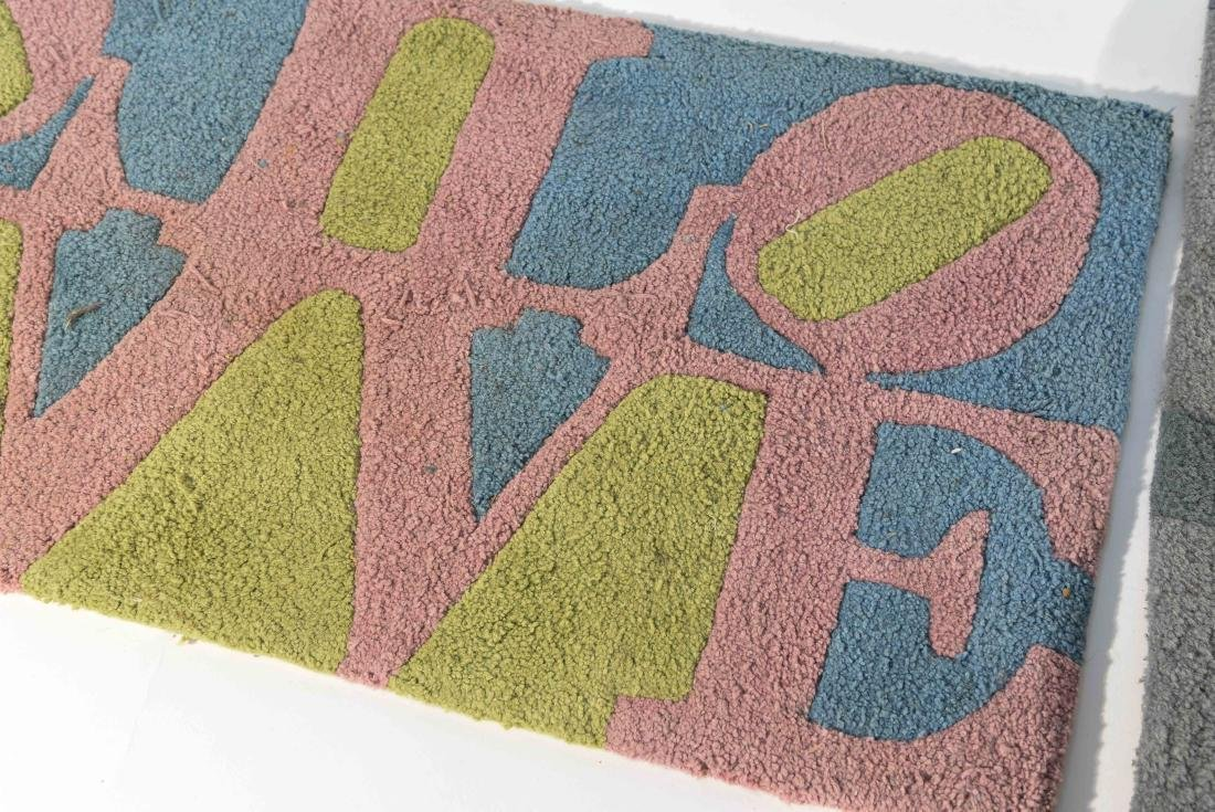 (2) ROBERT INDIANA LOVE RUGS - 3