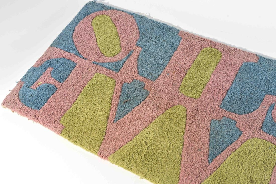 (2) ROBERT INDIANA LOVE RUGS - 4