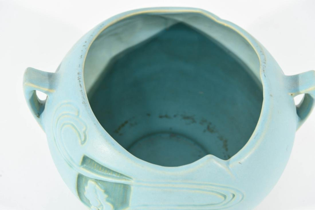 ROSEVILLE SILHOUETTE TURQUOISE NUDE BOWL - 3