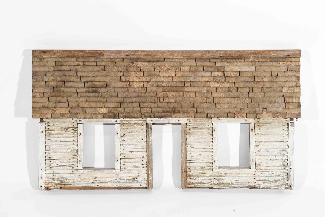 FOLK ART HOUSE WALL SCULPTURE