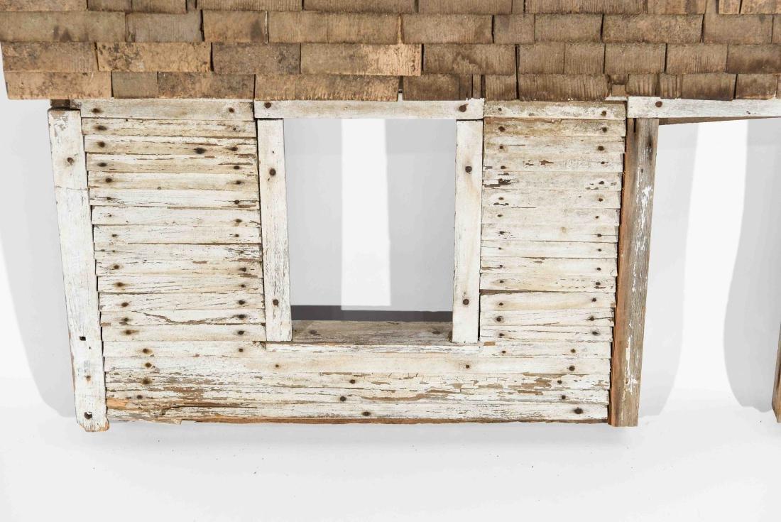 FOLK ART HOUSE WALL SCULPTURE - 3