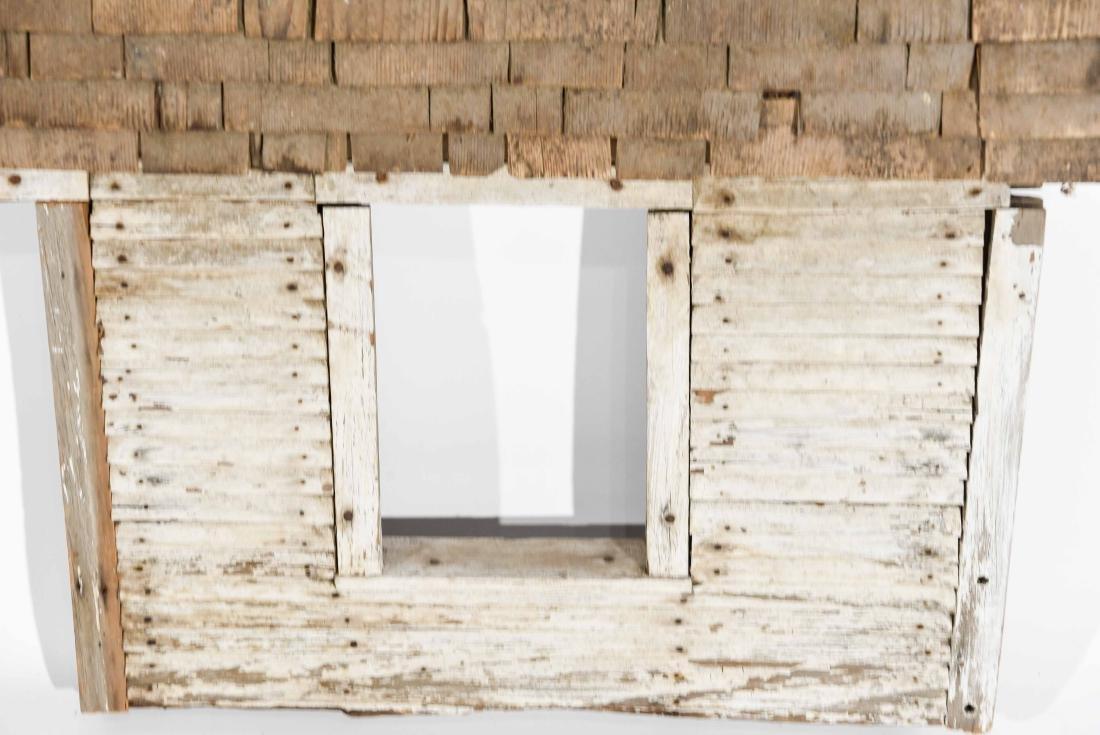 FOLK ART HOUSE WALL SCULPTURE - 4