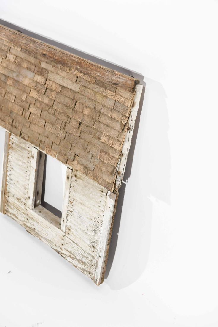 FOLK ART HOUSE WALL SCULPTURE - 6