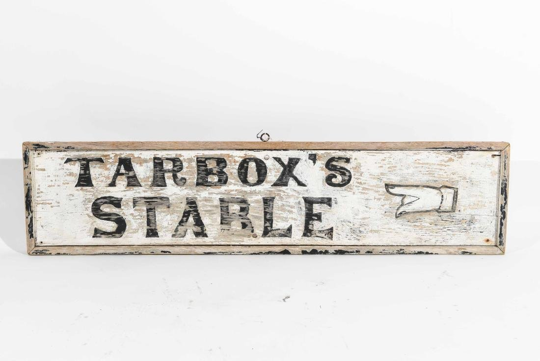 VINTAGE TARBOX'S STABLE SIGN
