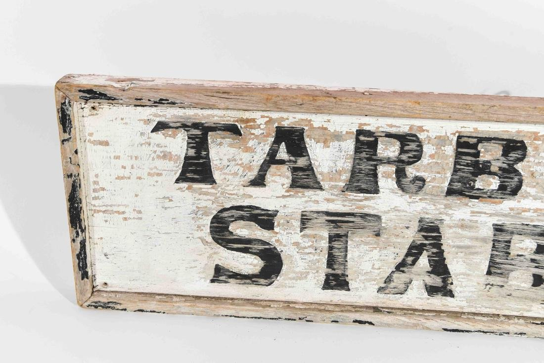 VINTAGE TARBOX'S STABLE SIGN - 2