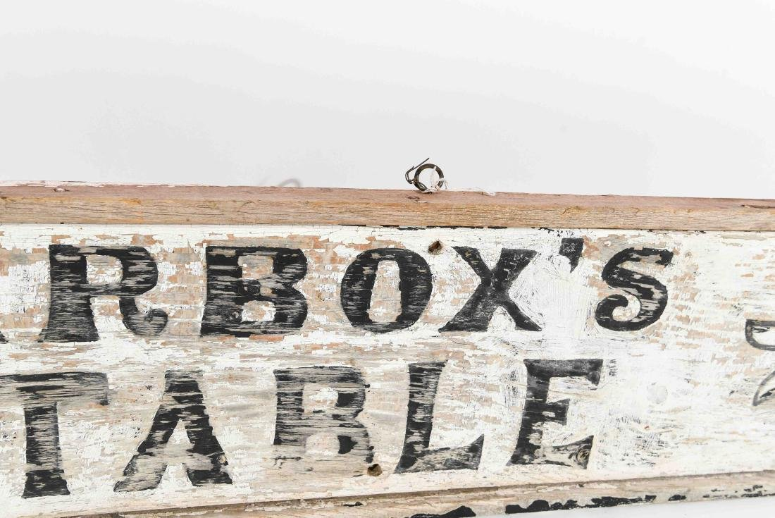 VINTAGE TARBOX'S STABLE SIGN - 3