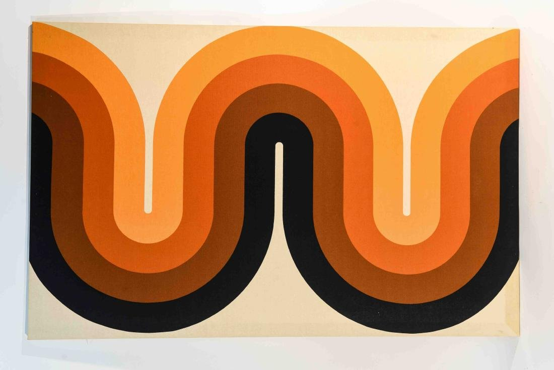 1970S OP ART FABRIC WALL HANGING