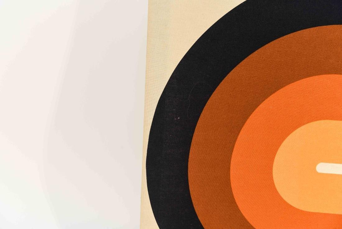 1970S OP ART FABRIC WALL HANGING - 3