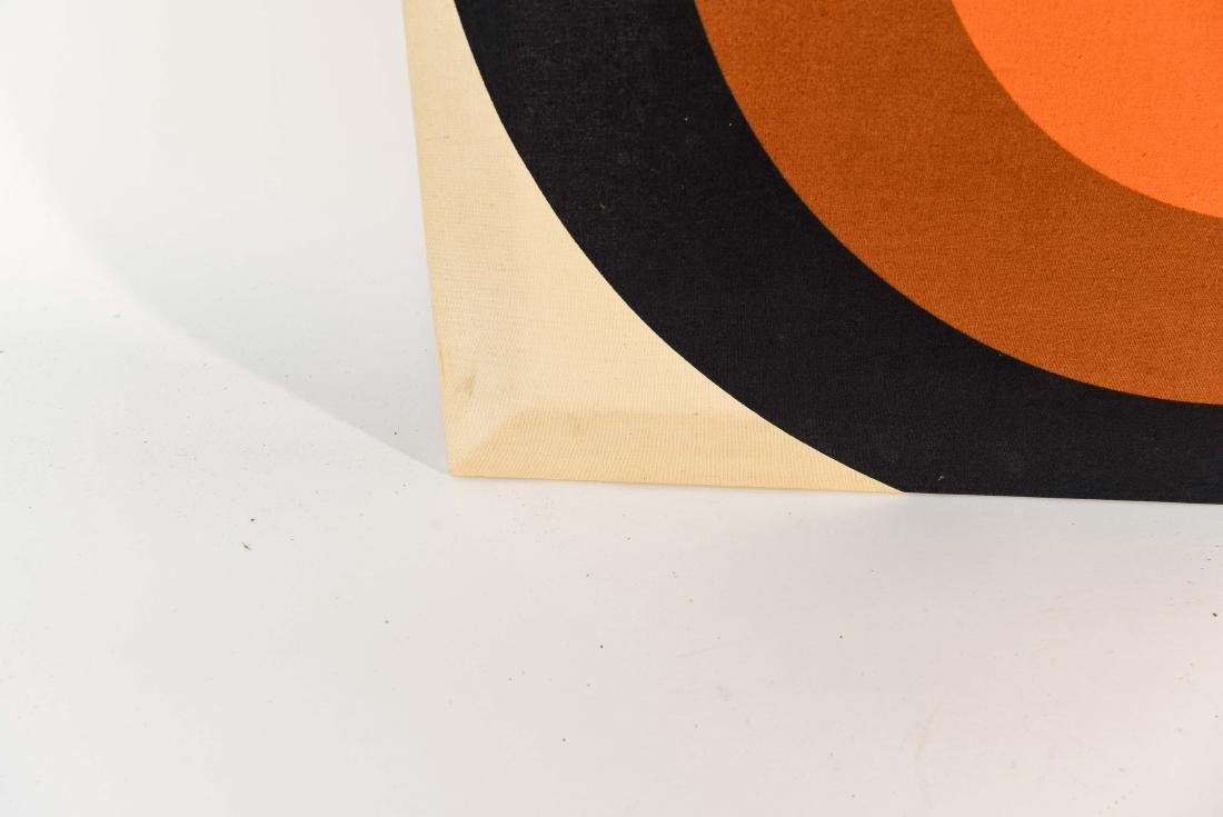 1970S OP ART FABRIC WALL HANGING - 4