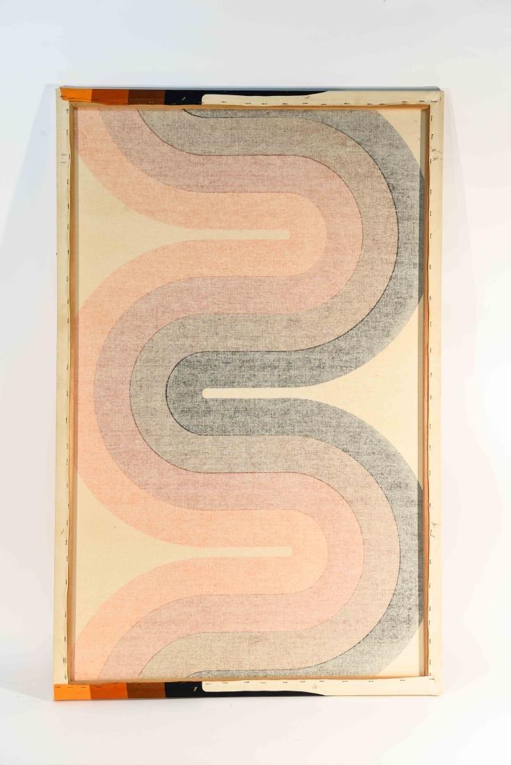 1970S OP ART FABRIC WALL HANGING - 7