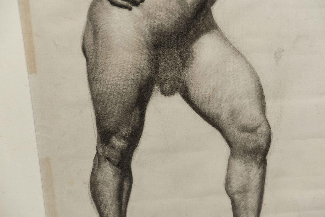 CHARCOAL DRAWING OF A MALE NUDE - 5