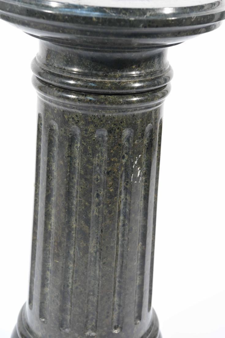 SHORT BLACK MARBLE PEDESTAL - 3