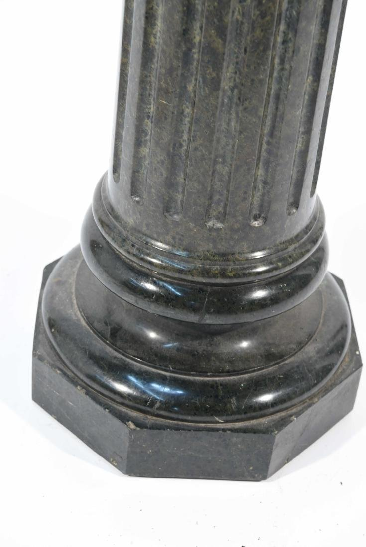 SHORT BLACK MARBLE PEDESTAL - 4