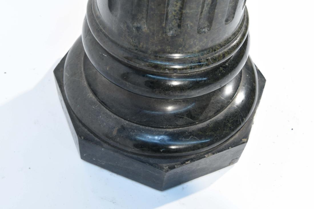 SHORT BLACK MARBLE PEDESTAL - 5