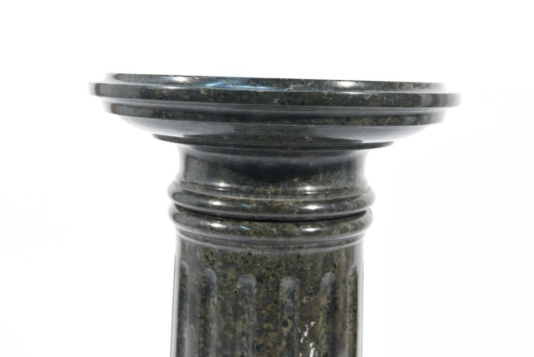 SHORT BLACK MARBLE PEDESTAL - 6