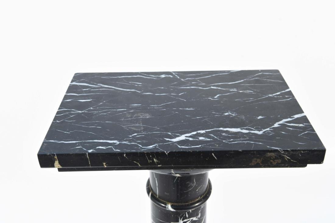 BLACK AND WHITE MARBLE PEDESTAL - 2