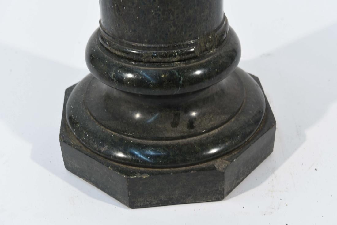 CARVED BLACK MARBLE PEDESTAL - 5