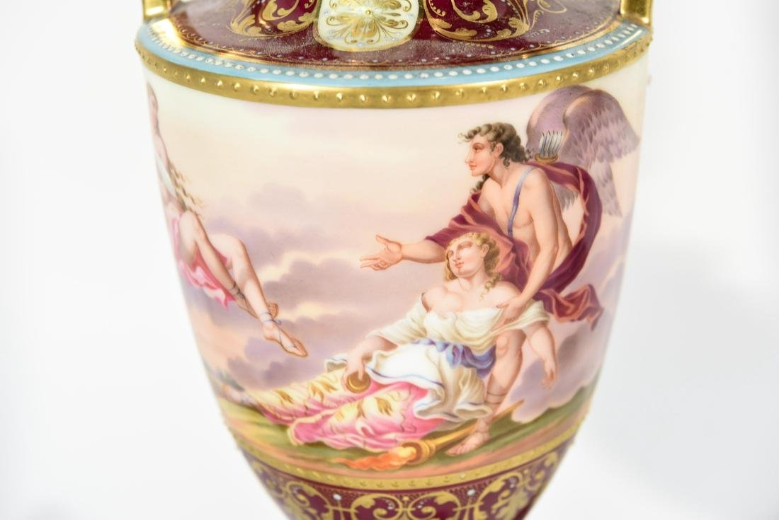 (3) PORCELAIN LAMPS MANNER OF VIENNA - 9