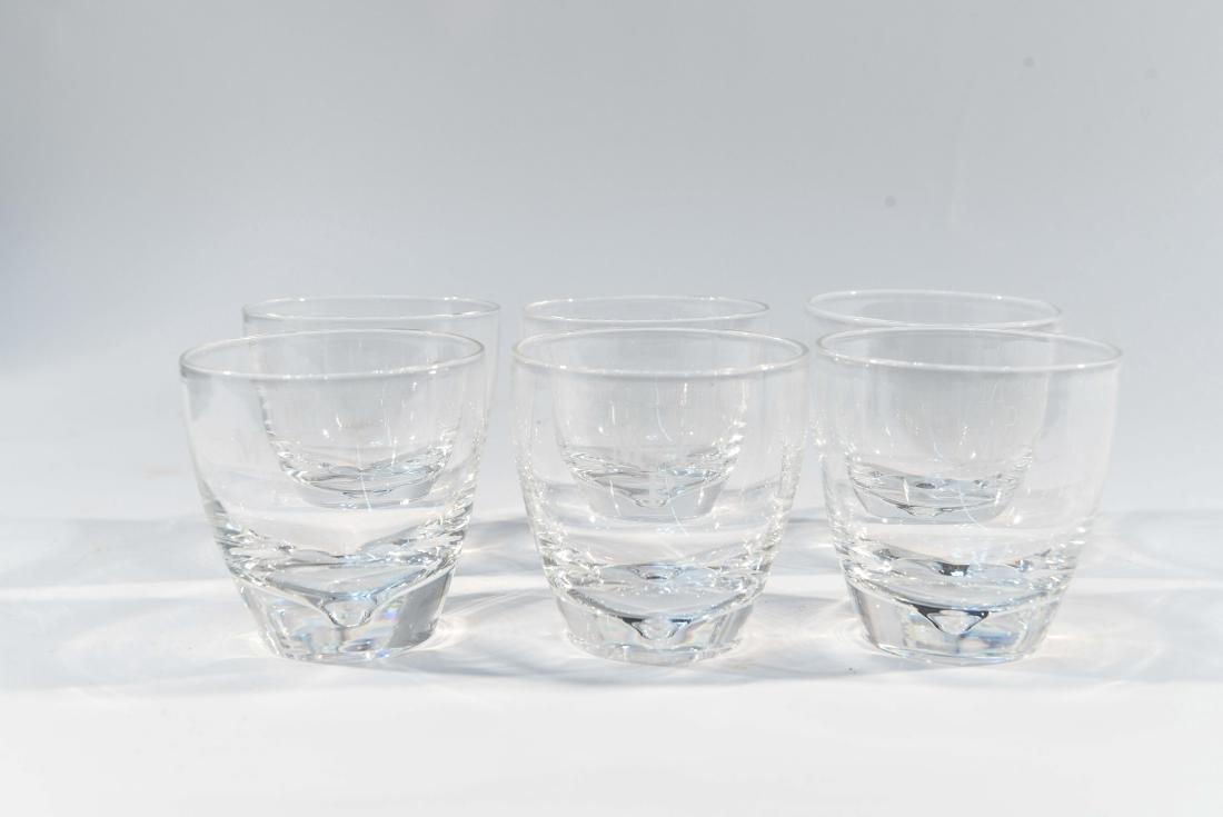 (6) STEUBEN GLASS TUMBLERS