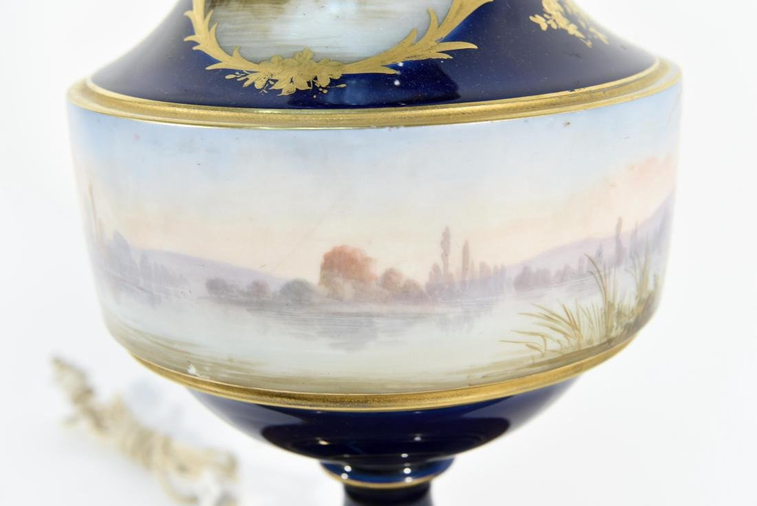 SEVRES HAND PAINTED PORCELAIN LAMP - 6