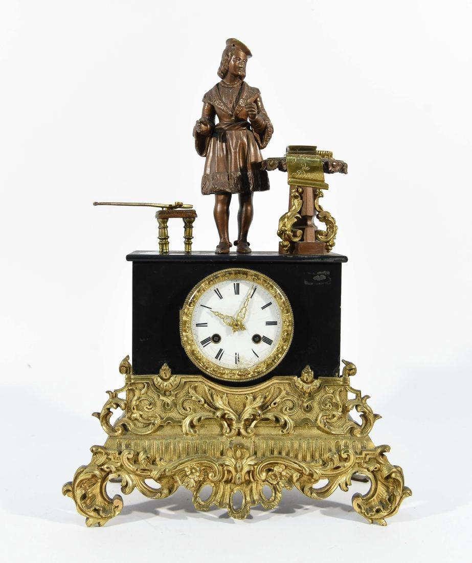 FIGURAL MANTLE CLOCK C.1840/50's