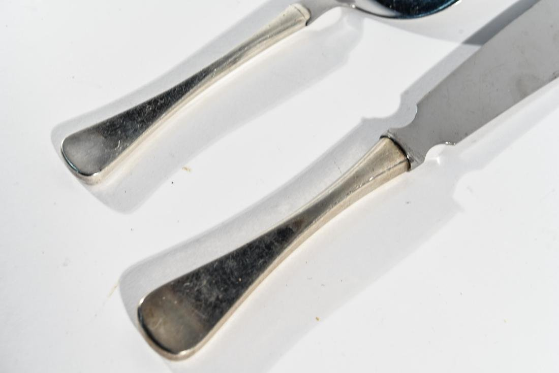 DANISH STERLING CHEESE KNIFE AND SERVER - 3