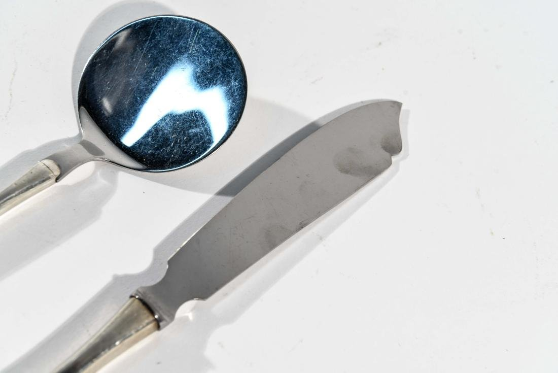 DANISH STERLING CHEESE KNIFE AND SERVER - 4