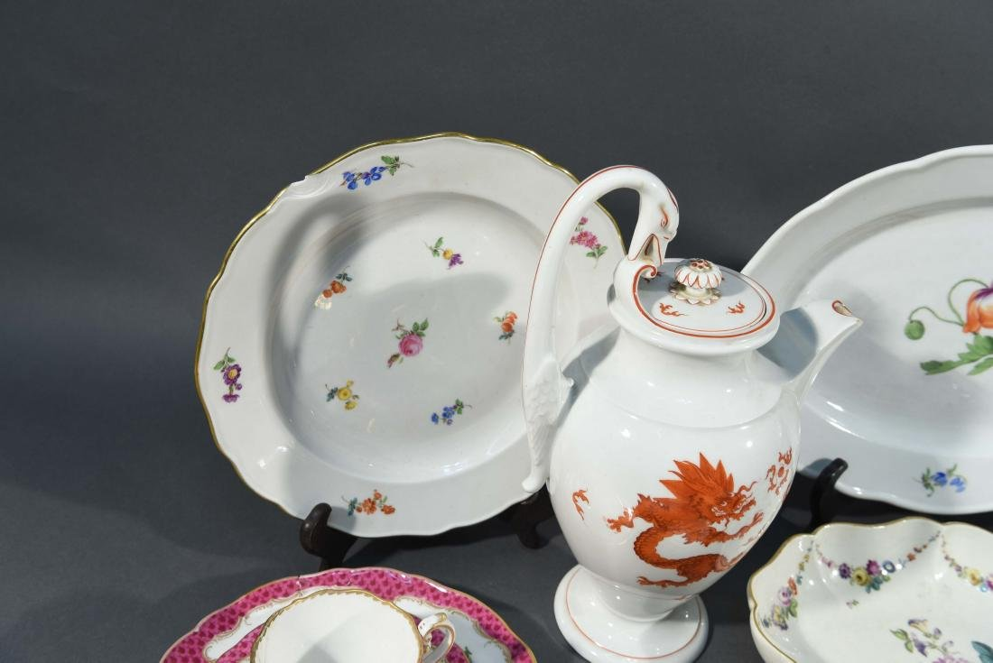 LARGE MEISSEN PORCELAIN GROUPING - 10