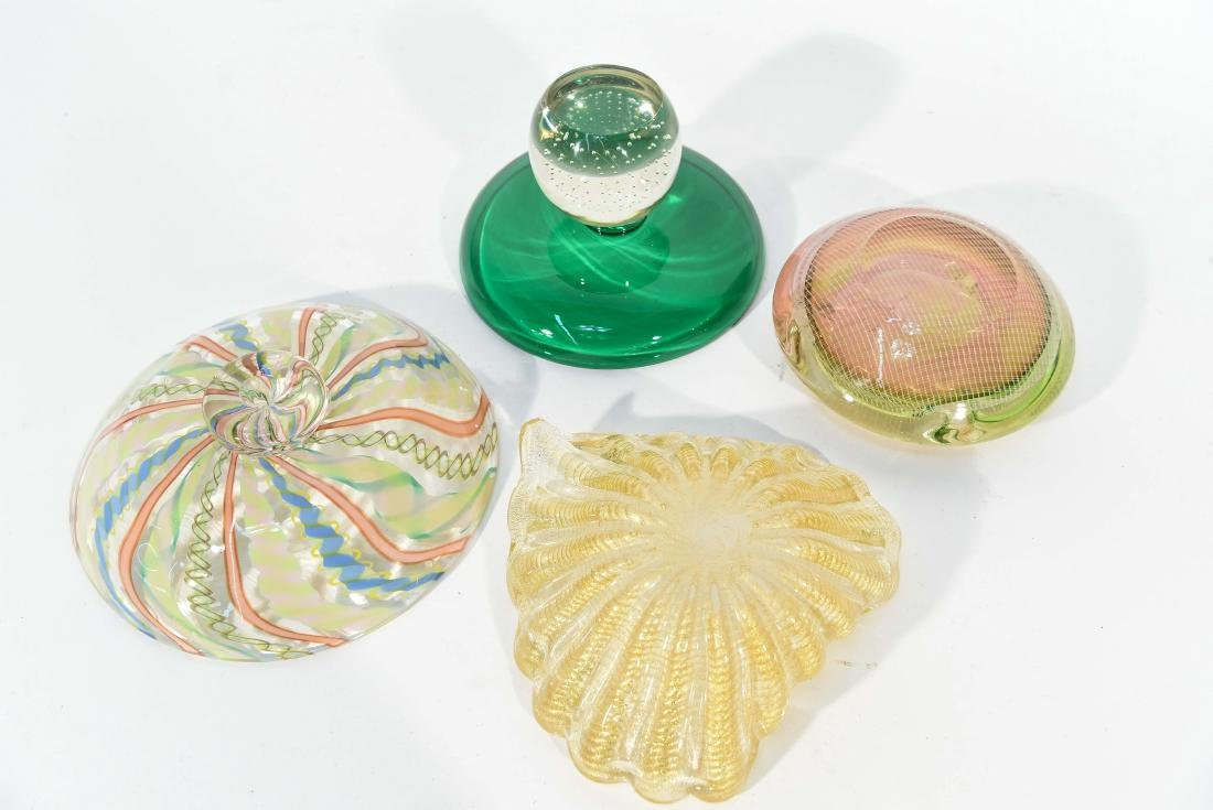(4) PIECES OF ITALIAN GLASS ETC - 9