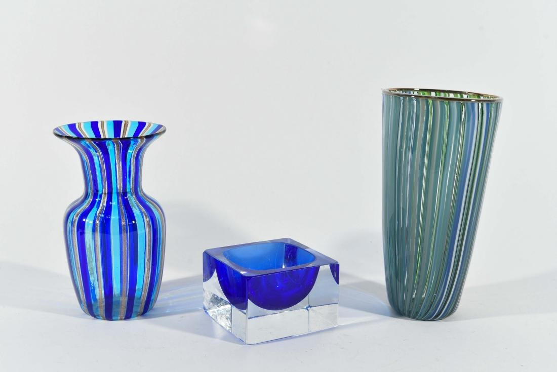 (3) PIECES OF ITALIAN ART GLASS ETC