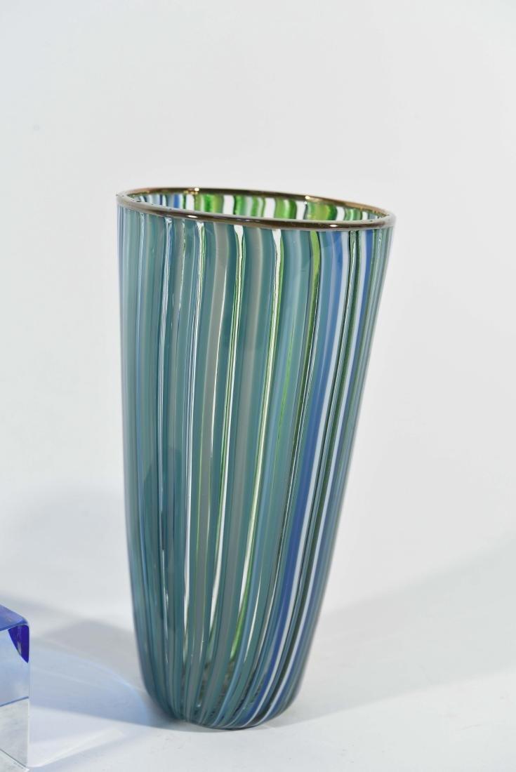(3) PIECES OF ITALIAN ART GLASS ETC - 4
