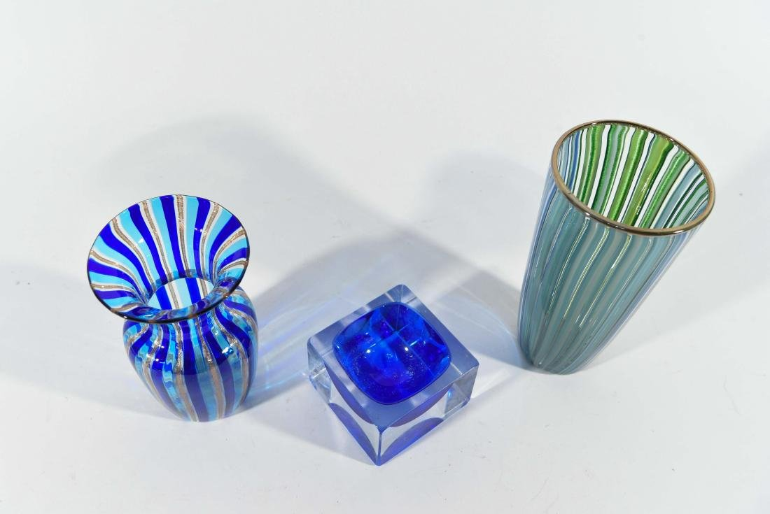 (3) PIECES OF ITALIAN ART GLASS ETC - 5